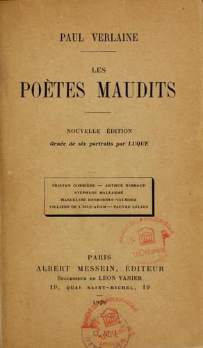 Download Les  poètes maudits.
