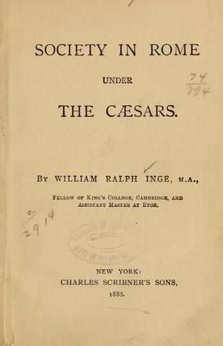 Download Society in Rome under the Caesars.
