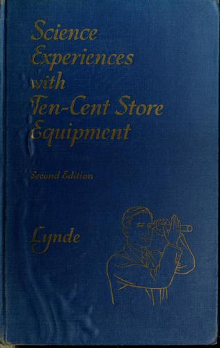 Download Science experiences with ten-cent store equipment.