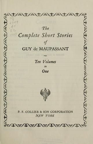 Download The complete short stories of Guy de Maupassant