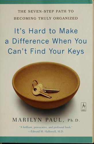 Download It's hard to make a difference when you can't find your keys