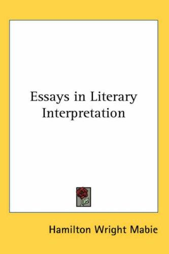 Download Essays in Literary Interpretation