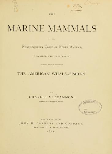 Download The marine mammals of the north-western coast of North America