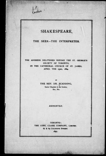 Download Shakespeare, the seer–the interpreter