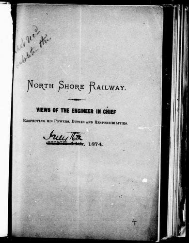North Shore Railway by [Silas Seymour].