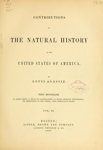 Contributions to the natural history of the United States of America.