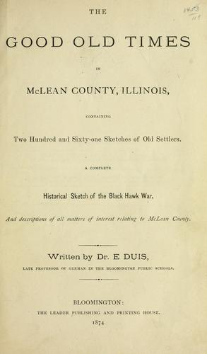 Download The good old times in McLean County, Illinois