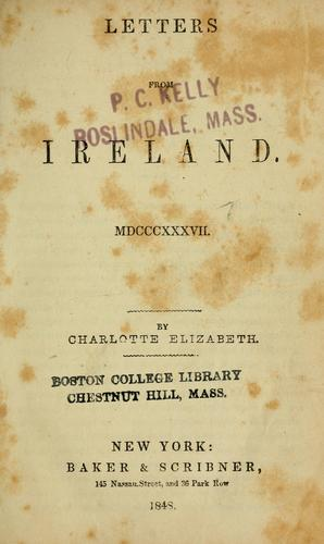 Letters from Ireland, MDCCCXXXVII.