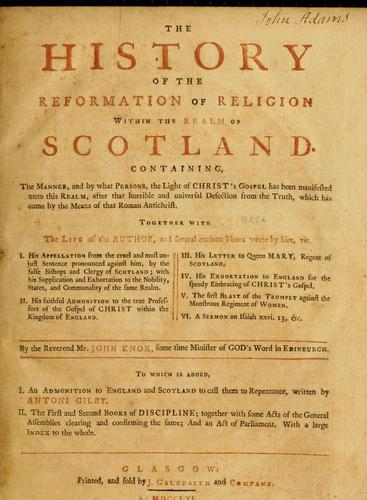 Download The history of the reformation of religion within the realm of Scotland