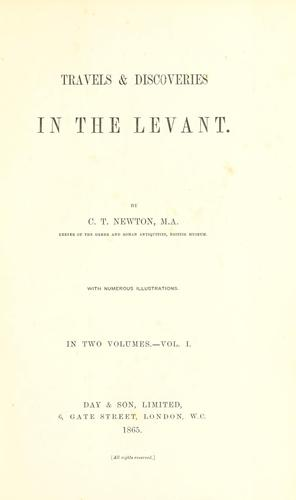 Travels & discoveries in the Levant