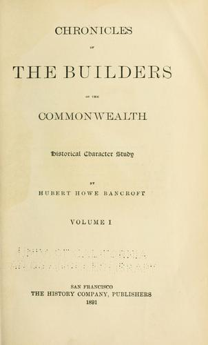 Chronicles of the builders of the commonwealth