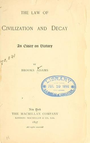 Download The law of civilization and decay