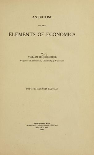 Download An outline of the elements of economics