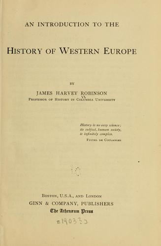 Download An introduction to the history of western Europe