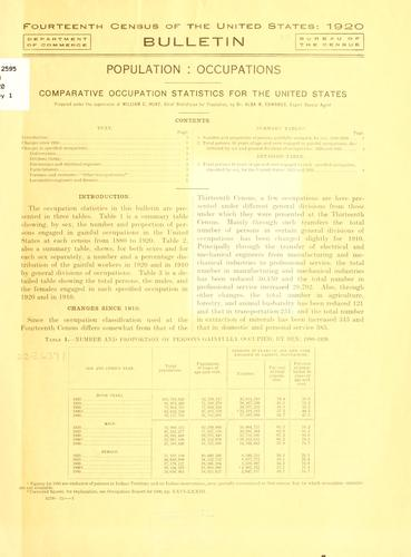 Download Fourteenth census of the United States: 1920 …