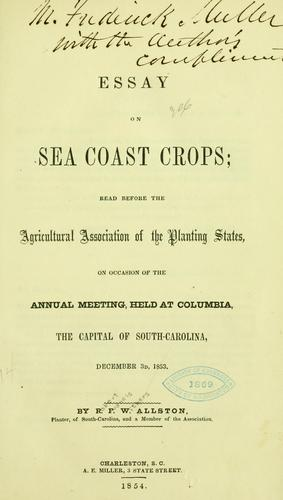 Essay on sea coast crops