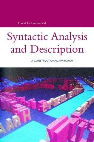 Download Syntactic analysis and description
