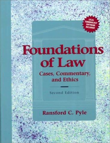 Download Foundations of Law