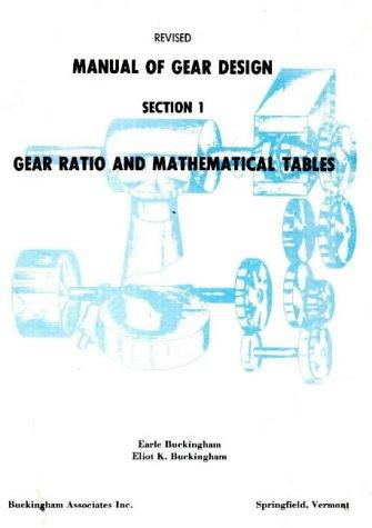Manual of Gear Design