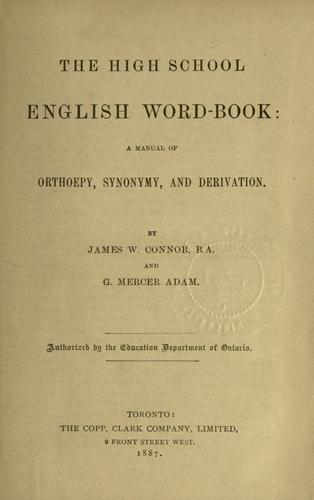 The High school English word-book