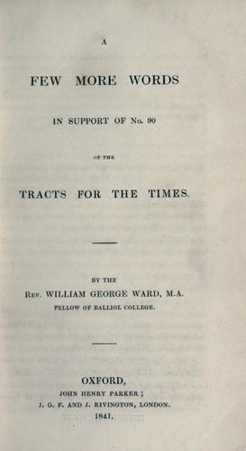 Download A few more words in support of no. 90 of the Tracts for the times