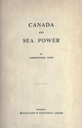 Download Canada and sea power