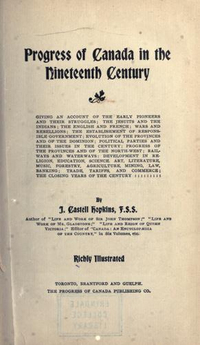 Download Progress of Canada in the nineteenth century