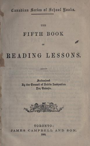 The fifth book of reading lessons