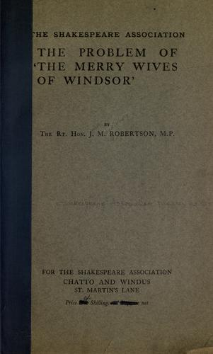 Download The problem of The merry wives of Windsor.