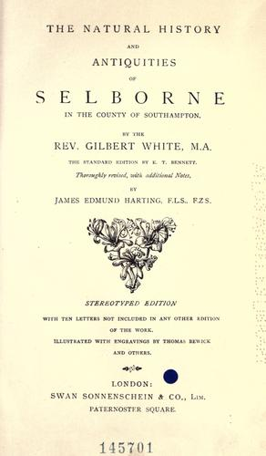 Download The natural history and antiquities of Selborne in the county of Southampton.