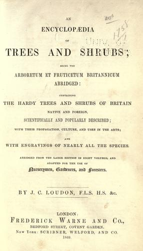Download An encyclopaedia of trees and shrubs