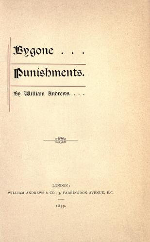 Download Bygone punishments.