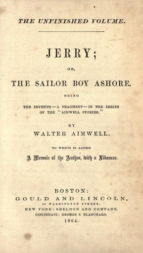 Jerry, or, The sailor boy ashore