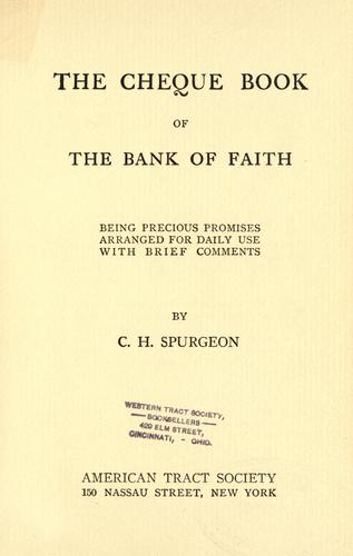 Download The cheque book of the bank of faith
