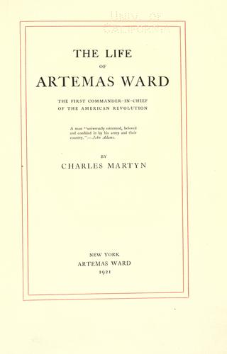 The life of Artemas Ward