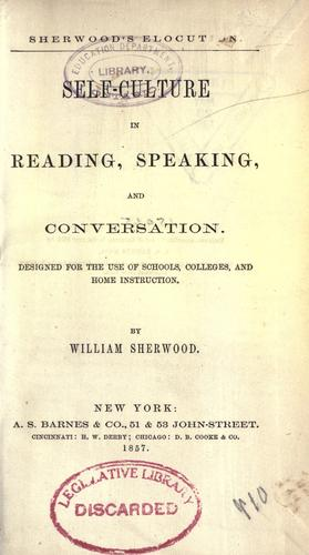 Self-culture in reading, speaking, and conversation