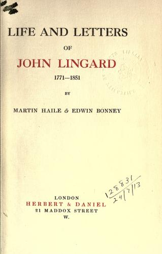 Download Life and letters of John Lingard, 1771-1851