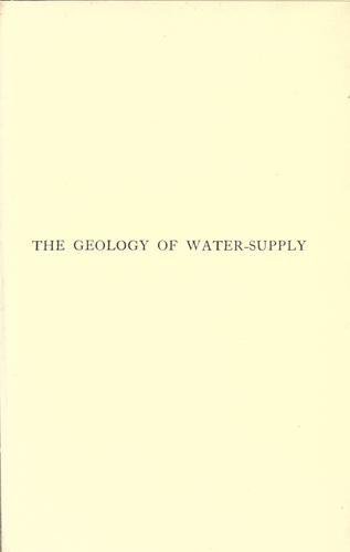 Download The geology of water-supply