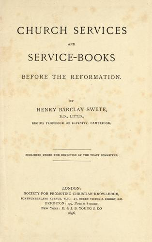 Download Church services and service-books before the reformation