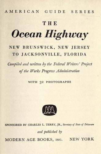 The ocean highway: New Brunswick, New Jersey to Jacksonville, Florida