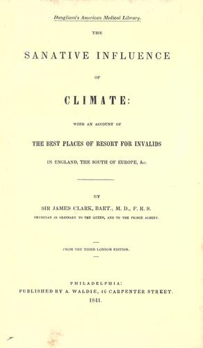 The sanative influence of climate