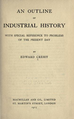 An outline of industrial history