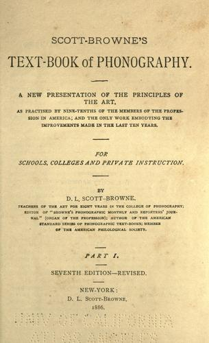 Scott-Browne's text-book of phonography …