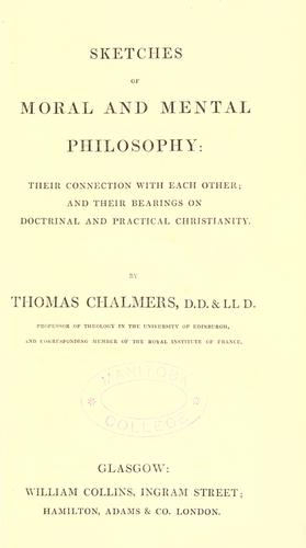 Download Sketches of moral and mental philosophy