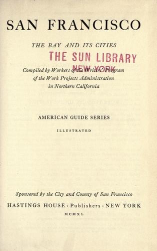 Download San Francisco, the bay and its cities