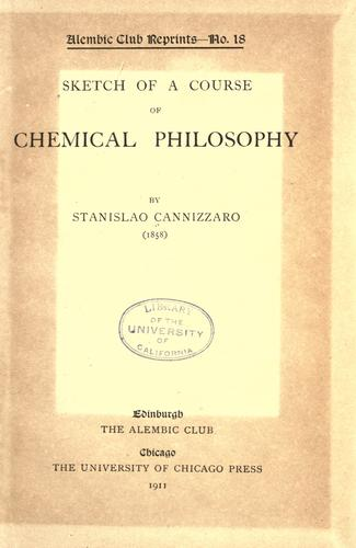 Sketch of a course of chemical philosophy