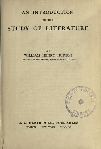 Download An introduction to the study of literature.
