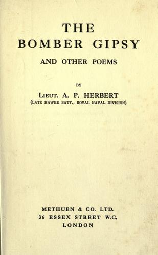 The Bomber gipsy, and other poems.