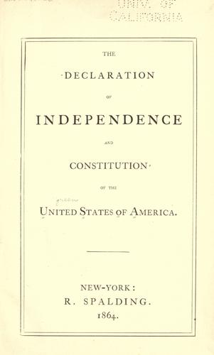 Download The Declaration of Independence and Constitution of the United States of America.