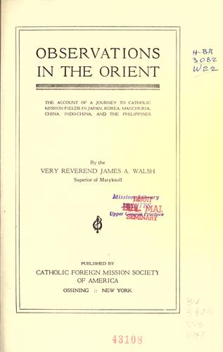 Download Observations in the Orient